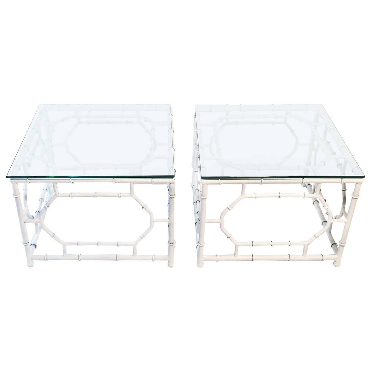 Iron Faux Bamboo End Tables 1