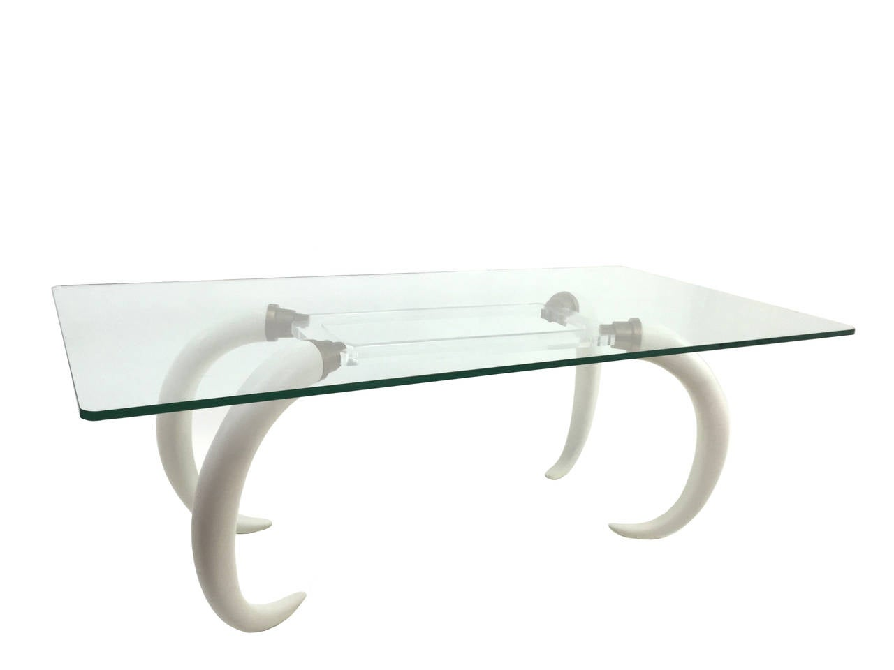 versailles collection resin elephant tusk and lucite table 2 - Lucite Desk
