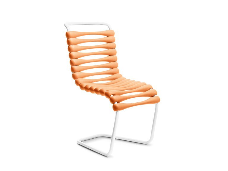 For Sale: Orange Gufram Bounce Chair by Karim Rashid
