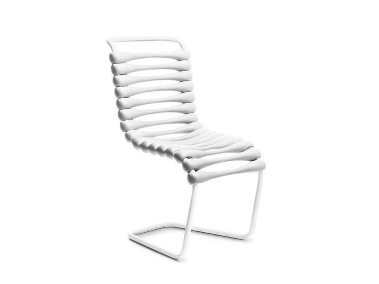 For Sale: White Gufram Bounce Chair by Karim Rashid