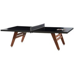 RS# Stationary Ping Pong Table in Black by RS Barcelona