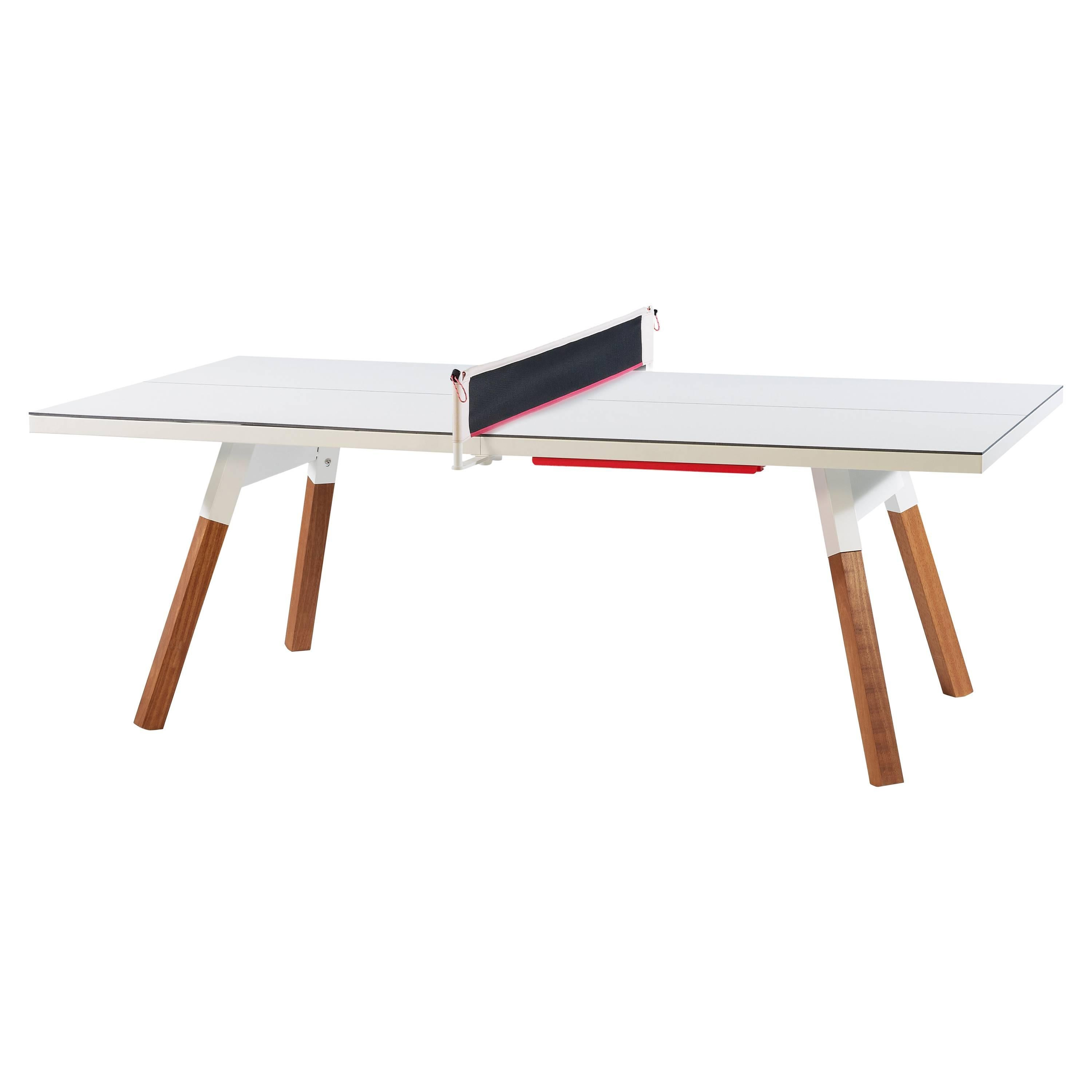 You & Me HPL Top Ping Pong Table 220 in White by RS Barcelona