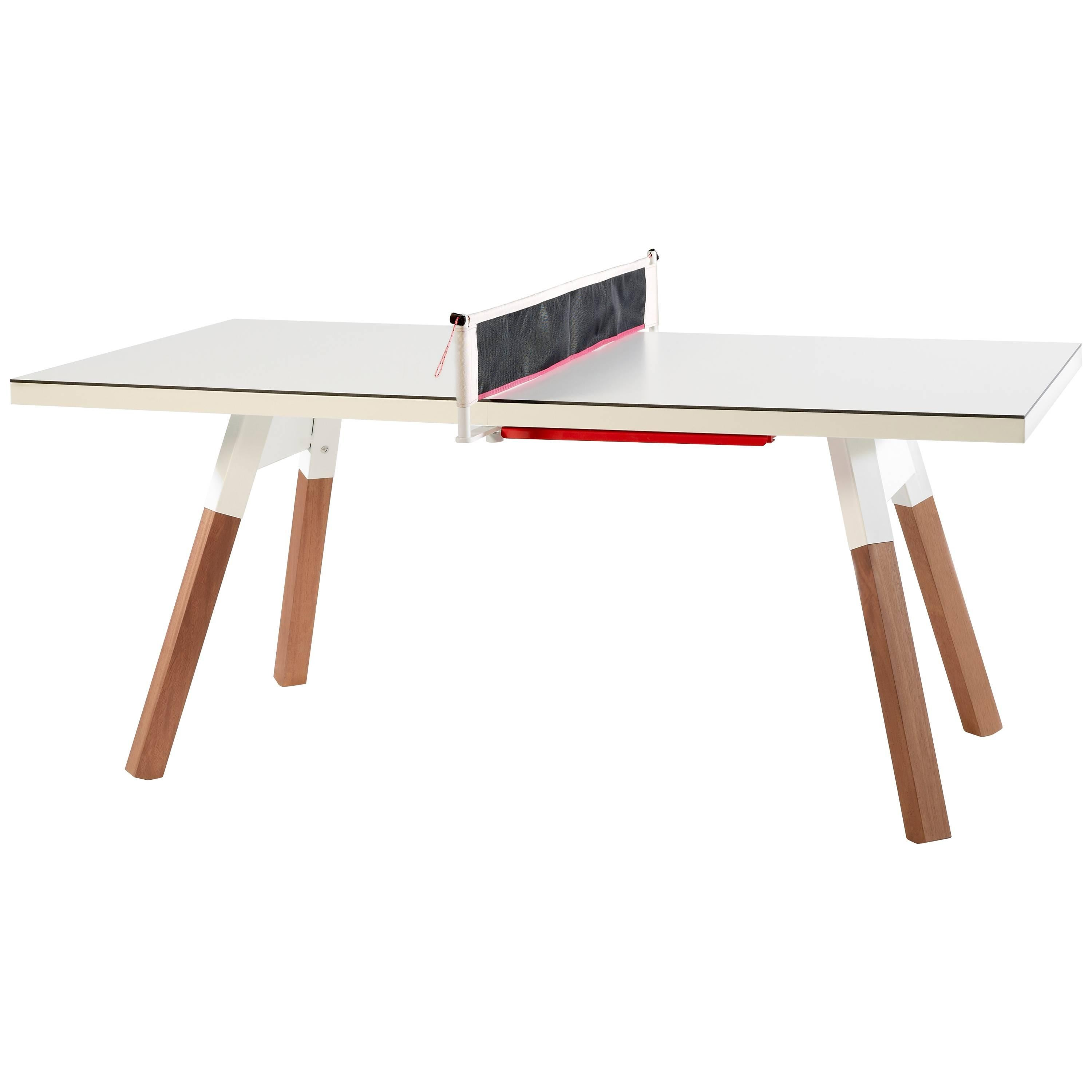 You & Me HPL Top Ping Pong Table 180 in White by RS Barcelona