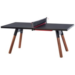You and Me HPL Top Ping-Pong Table 180 in Black by RS Barcelona