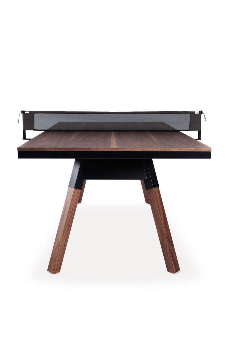 You Me Wooden Top 180 Ping Pong Table In Walnut And Black By Rs Barcelona