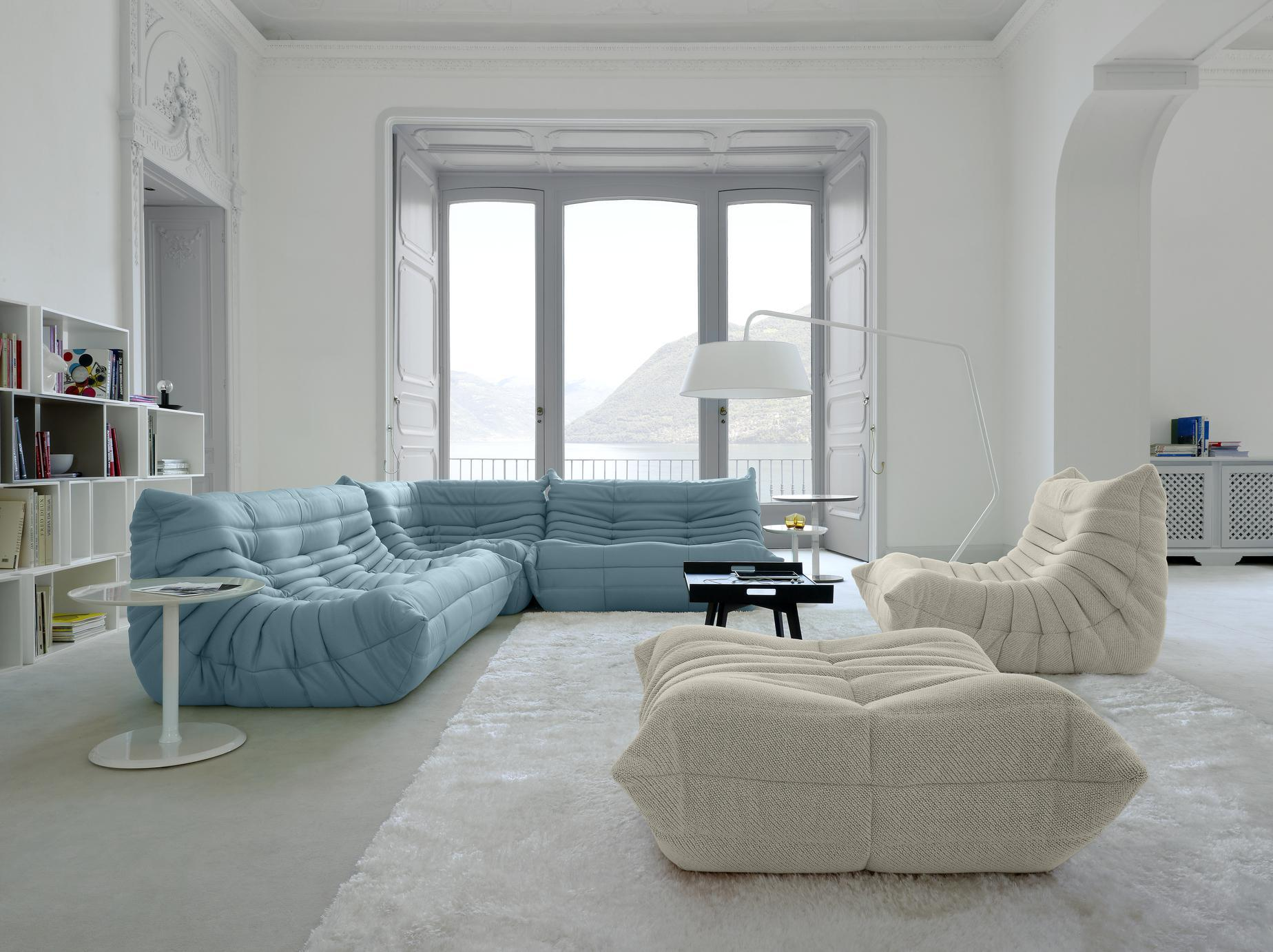 ligne roset 4 piece togo sofa in chic grey microsuede for sale at rh 1stdibs com ligne roset togo sofa dimensions ligne roset togo sofa cleaning