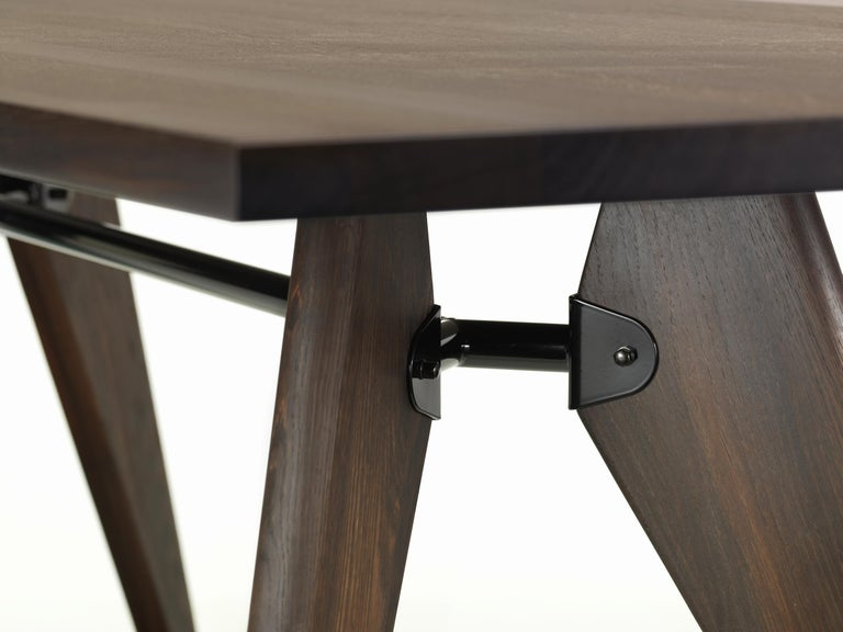 Modern Vitra Table Solvay in Smoked Dark Oak by Jean Prouvé For Sale