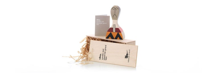 Modern Vitra Wooden Doll No. 17 by Alexander Girard For Sale