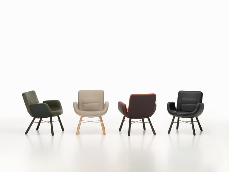 These items are currently only available in the United States.  East River chair, a new version of Materials this design, features a seat shell covered entirely with leather. Hella Jongerius developed four variations, each of which combines leathers