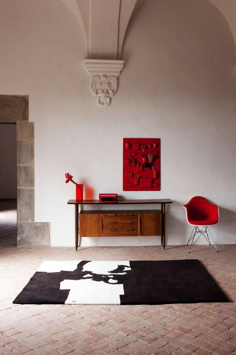 Modern Collage 1966 Hand-Tufted Wool Area Rug by Eduardo Chillida For Sale