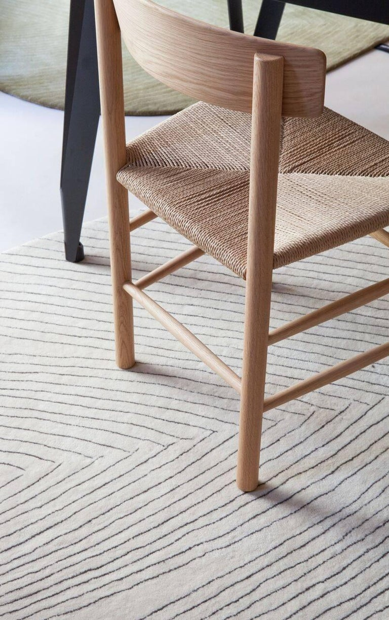 Hand-Crafted Quill Large Off-White Hand-Tufted Rug Nao Tamura in Stock For Sale