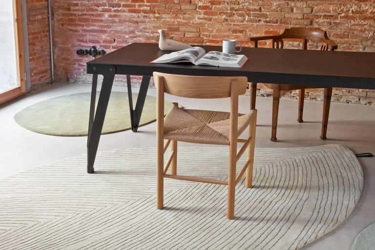 Modern Quill Large Off-White Hand-Tufted Rug Nao Tamura in Stock For Sale