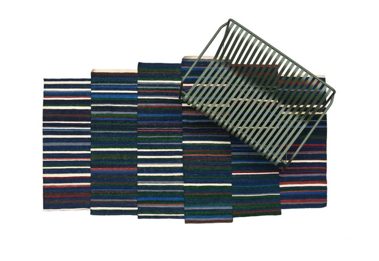 Pakistani Lattice One Hand-Loomed Afghan Wool Rug by Ronan & Erwan Bouroullec Small For Sale