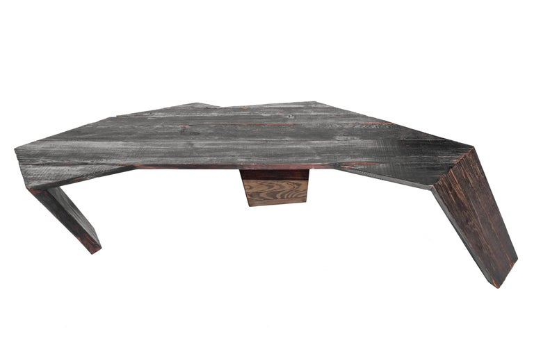 Stealth Coffee Table in Recycled & Locally Found 19th Century Italian Larch Wood In New Condition For Sale In NEW YORK, NY