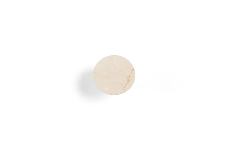 Modern Salvatori Fontane Bianche Wall Hook in Botticino Beige Marble by Elisa Ossino For Sale