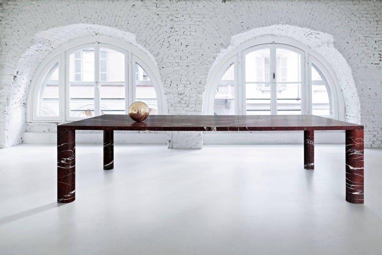 The stone is the star of the show in these tables which were designed by Michael Anastassiades with the specific intention of highlighting the opulence of the marbles chosen for his collection 'Love Me, Love Me Not'.  Instead of the highly