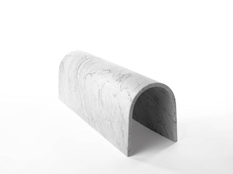 Modern Salvatori Galleria Special Edition Sculpture & Bench Bianco Carrara by Ron Gilad For Sale