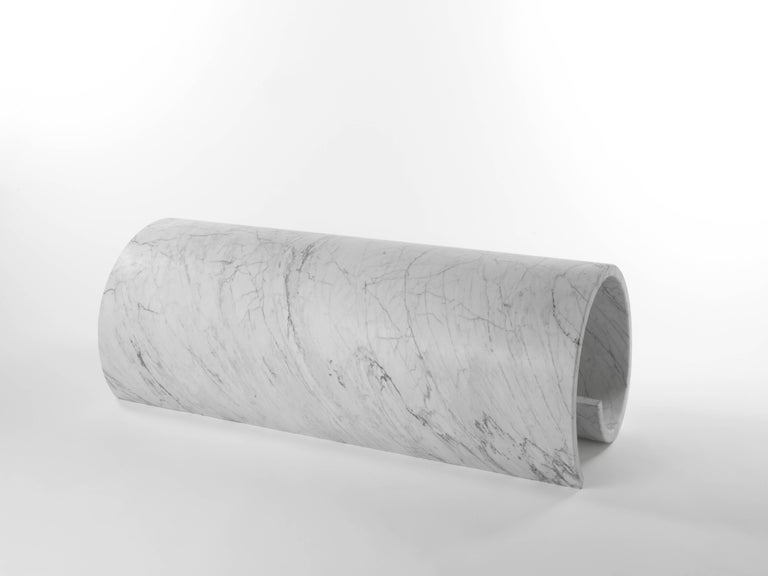 Modern Salvatori Girella Special Edition Sculpture & Bench Bianco Carrara by Ron Gilad For Sale