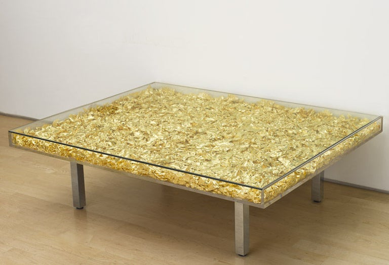 French Table Monogold by Yves Klein For Sale
