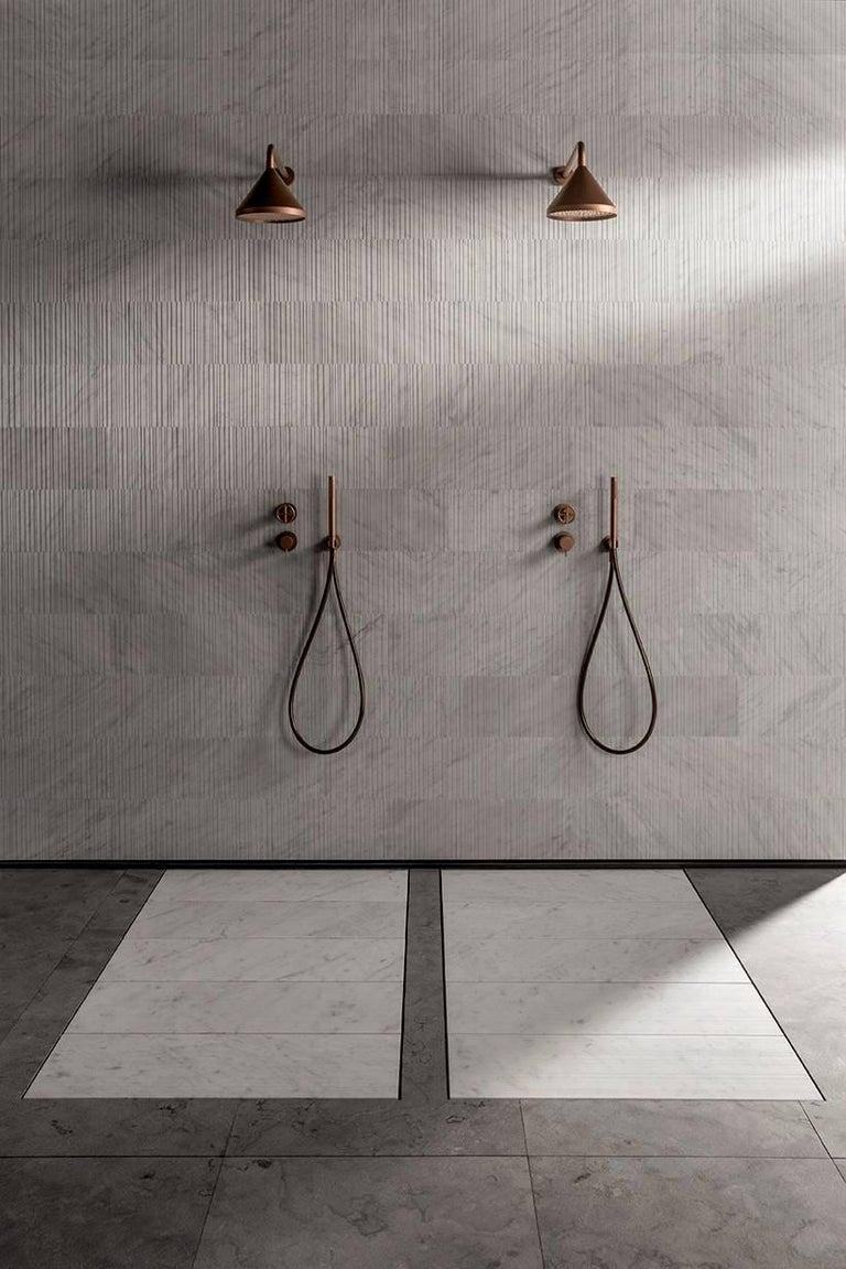 Salvatori Filo Flush 5 / 80 Shower Tray in Sandblasted Bianco ...