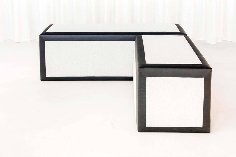 Set of Three Démesure or Unscaled Benches by Jouffre In New Condition For Sale In New York, NY