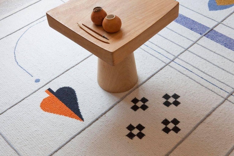 Rabari 1 X-Large Hand-Knotted & Loomed Wool Rug by Nipa Doshi & Jonathan Levien 8