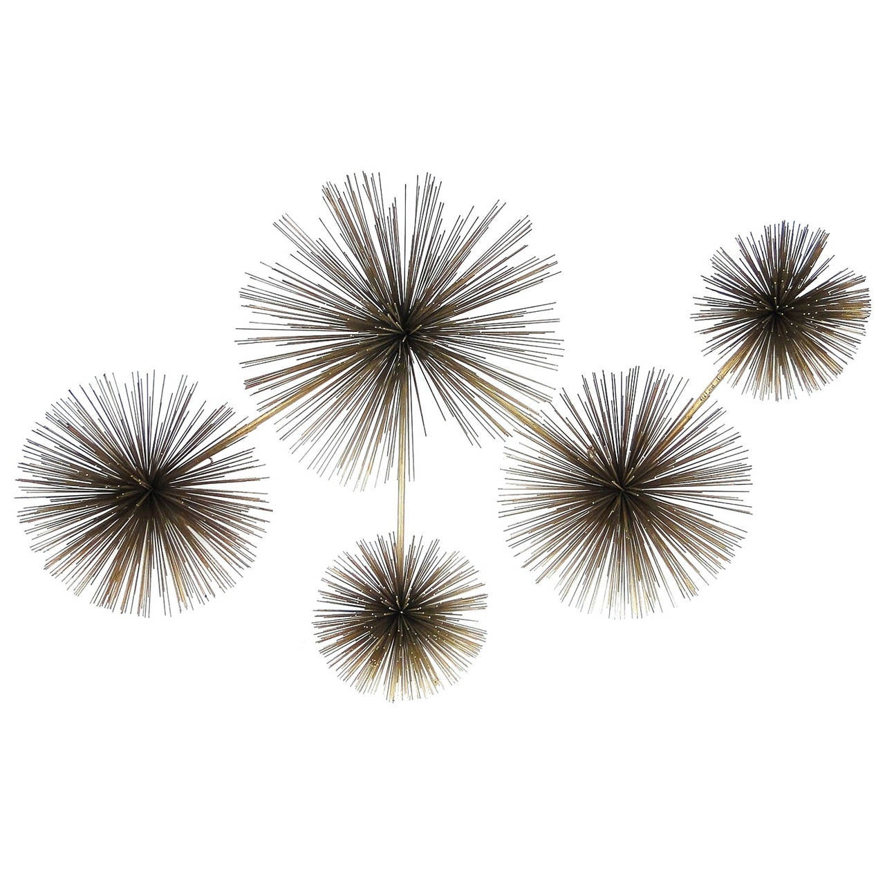 Metal Urchin Wall Decor : Midcentury curtis jere quot pom or sea urchin wall