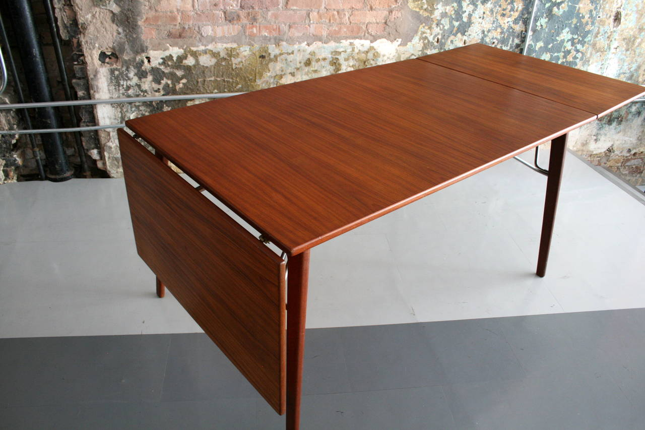 Teak Danish Hunter Drp Leaf Dining Table By Borge