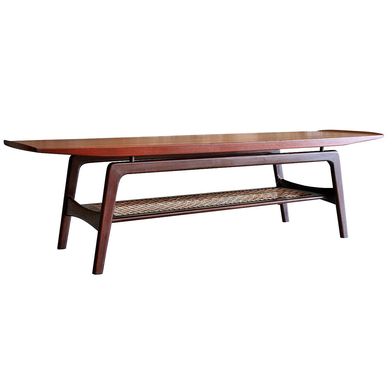 Teak Danish Coffee Table By Arne Hovmand Olsen At 1stdibs