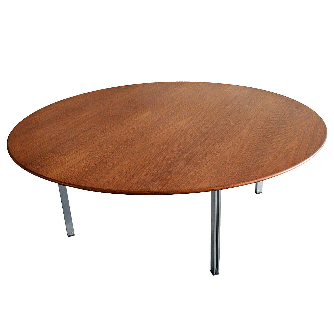 Early florence knoll parallel bar walnut coffee table at Florence knoll coffee table