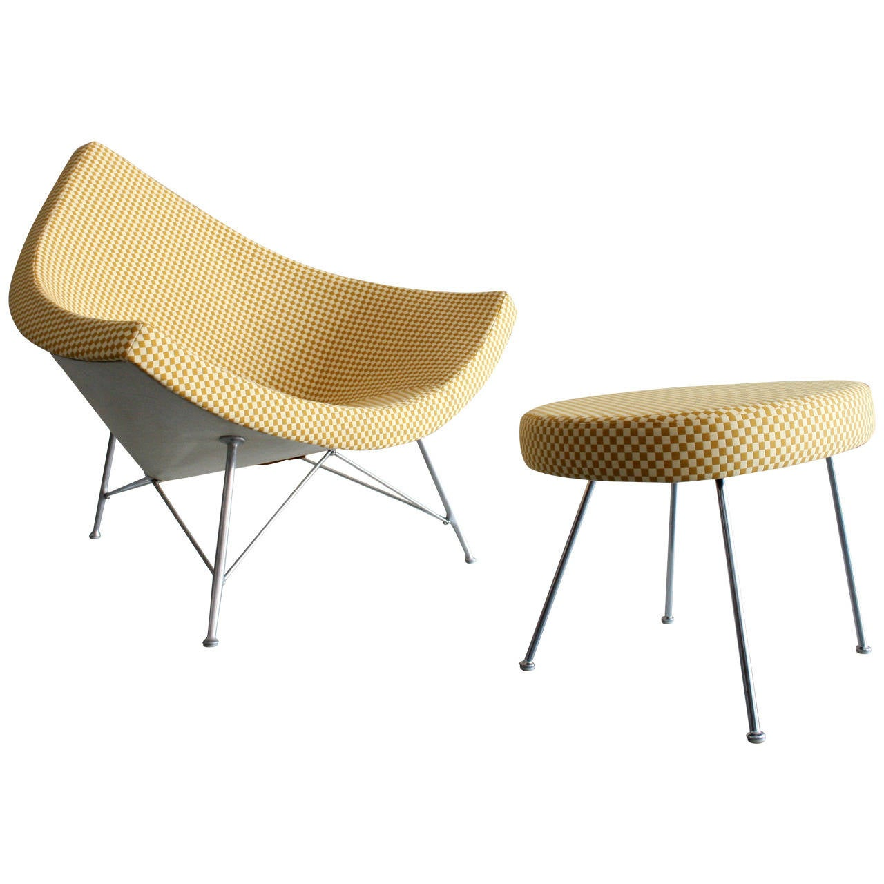 Delightful Original Coconut Lounge Chair And Ottoman By George Nelson For Herman  Miller For Sale