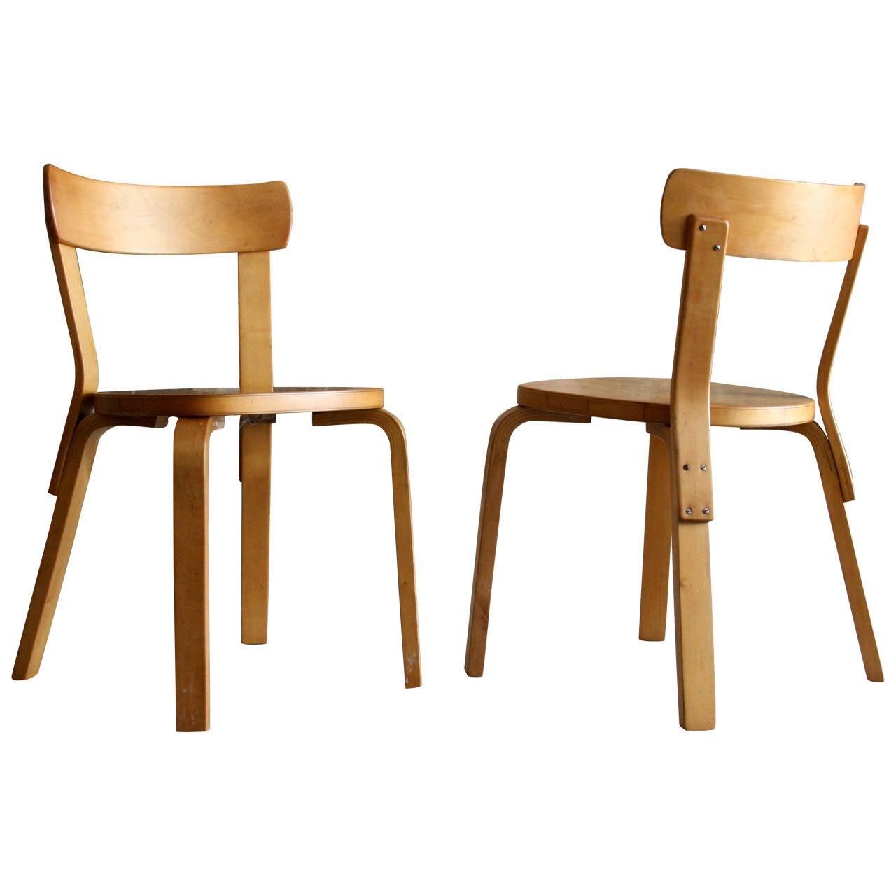 69 Chairs By Alvar Aalto For Artek 1935 For Sale