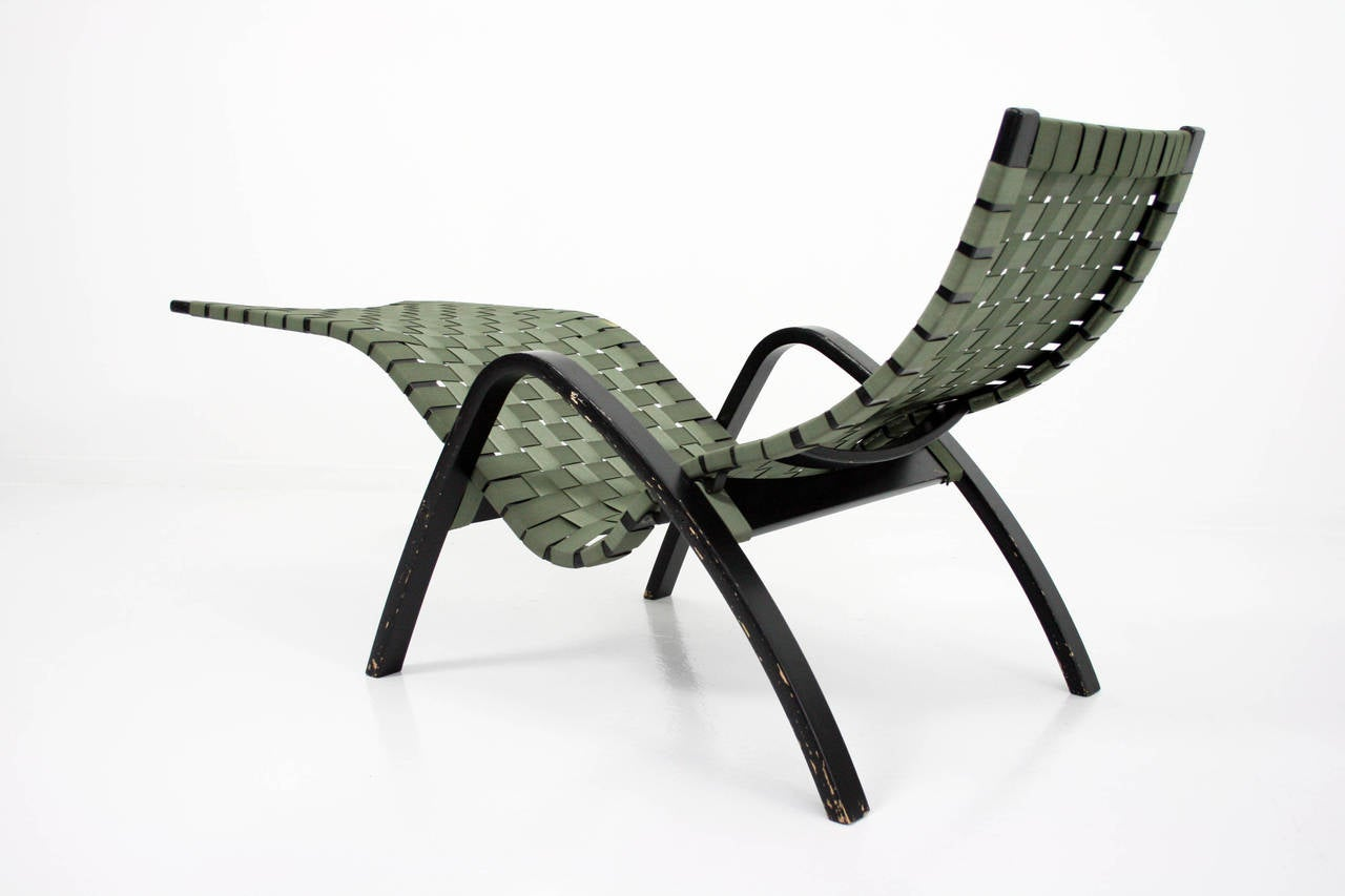 Rare 1950s clifford pascoe adjustable chaise lounge at 1stdibs for 1950 chaise lounge