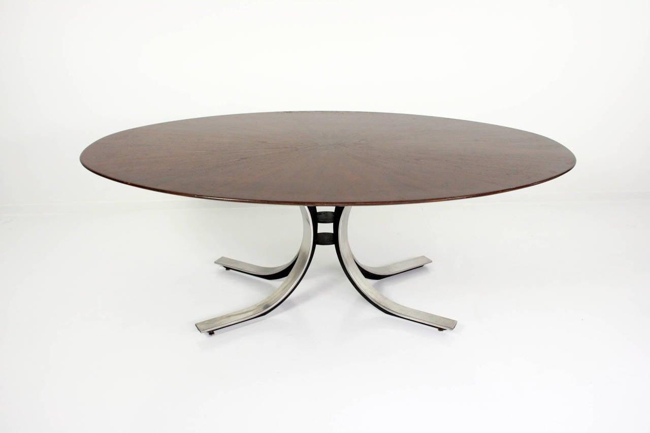 Veneer Osvaldo Borsani Dining Table For Sale