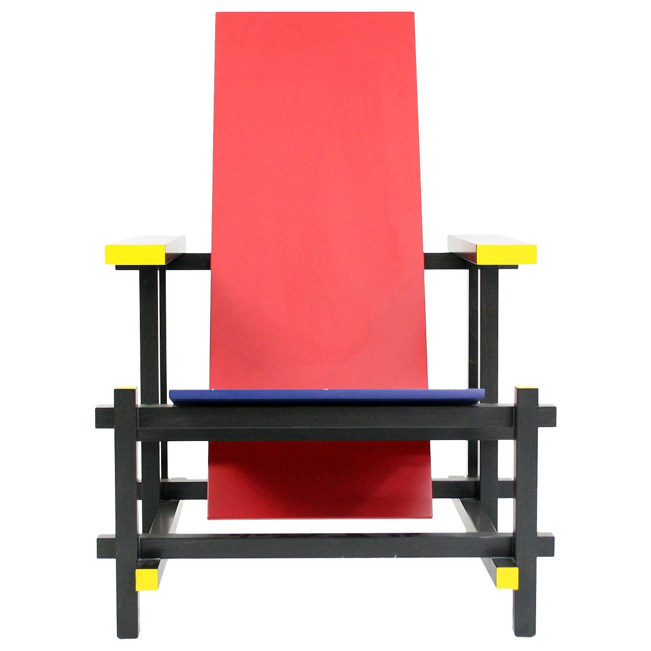 Early Red and Blue Rietveld Chair for Cassina at 1stdibs