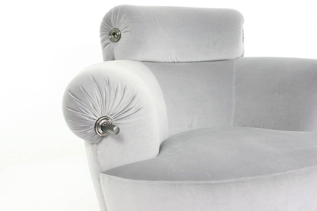 Italian Luigi Caccia Dominioni Azucena Toro Lounge Chair, 1973 For Sale