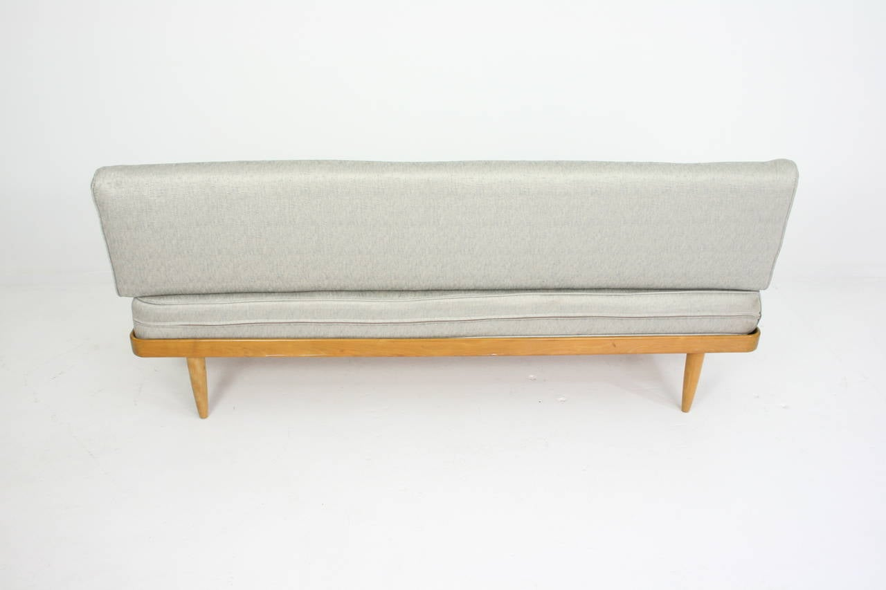 Teak sofa or daybed by peter hvidt for france and son mid for Mid century daybed sofa