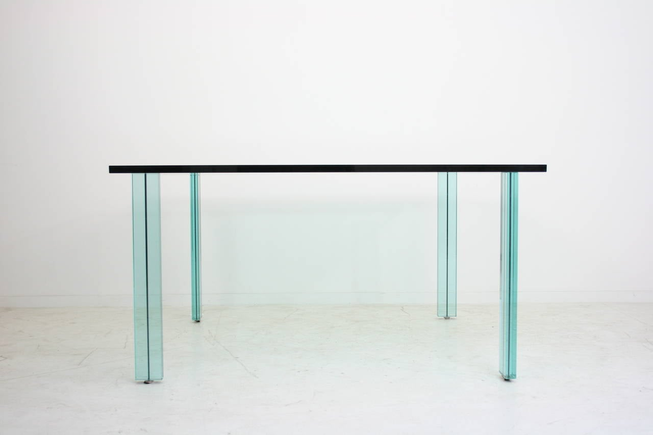 1986 Renzo Piano Teso Dining Or Work Table For Fontana Arte Italy At 1stdibs