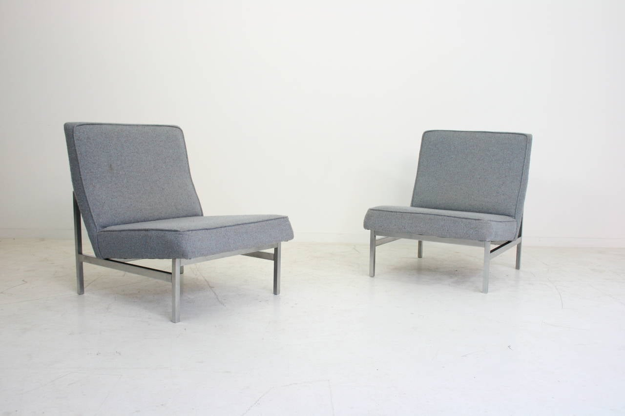 Pair of florence knoll lounge chairs model 2251 knoll for Knoll and associates