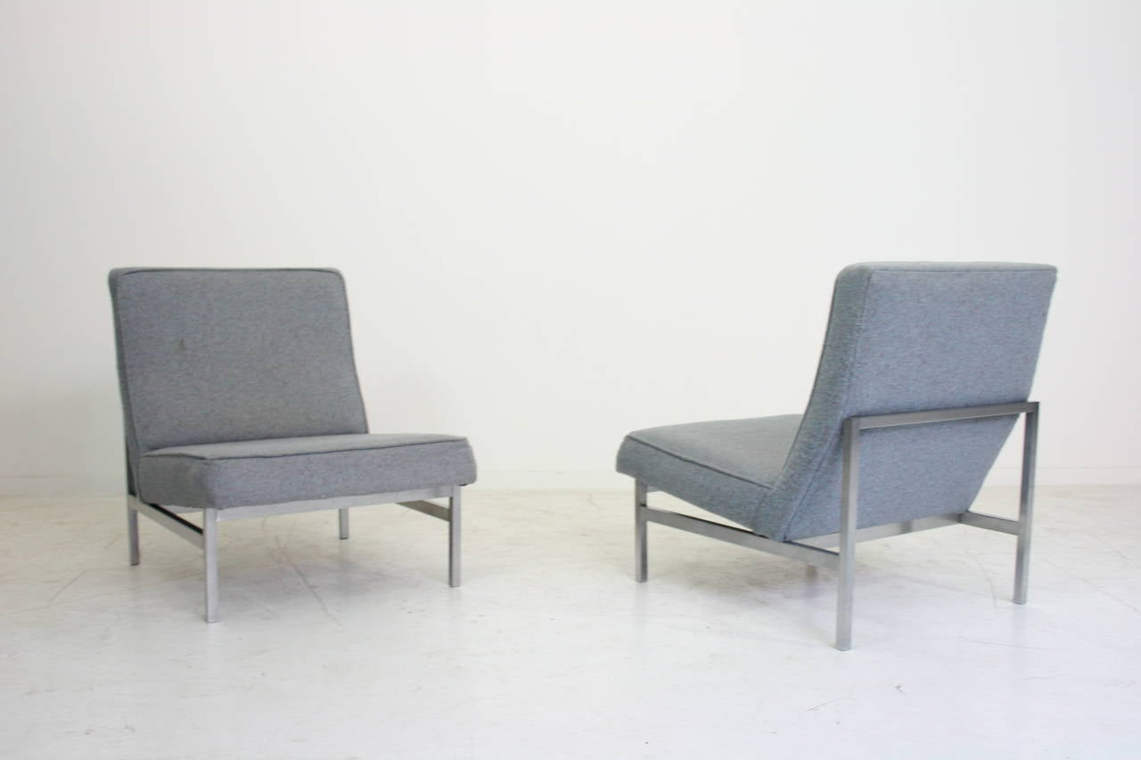 Pair Of Florence Knoll Lounge Chairs Model 2251 Knoll