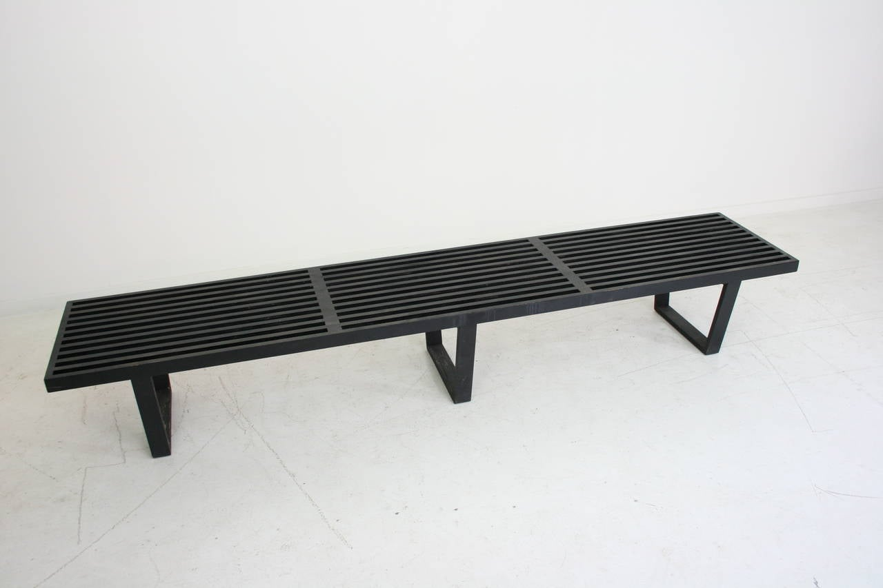 Early George Nelson For Herman Miller Ebony Slat Bench At 1stdibs