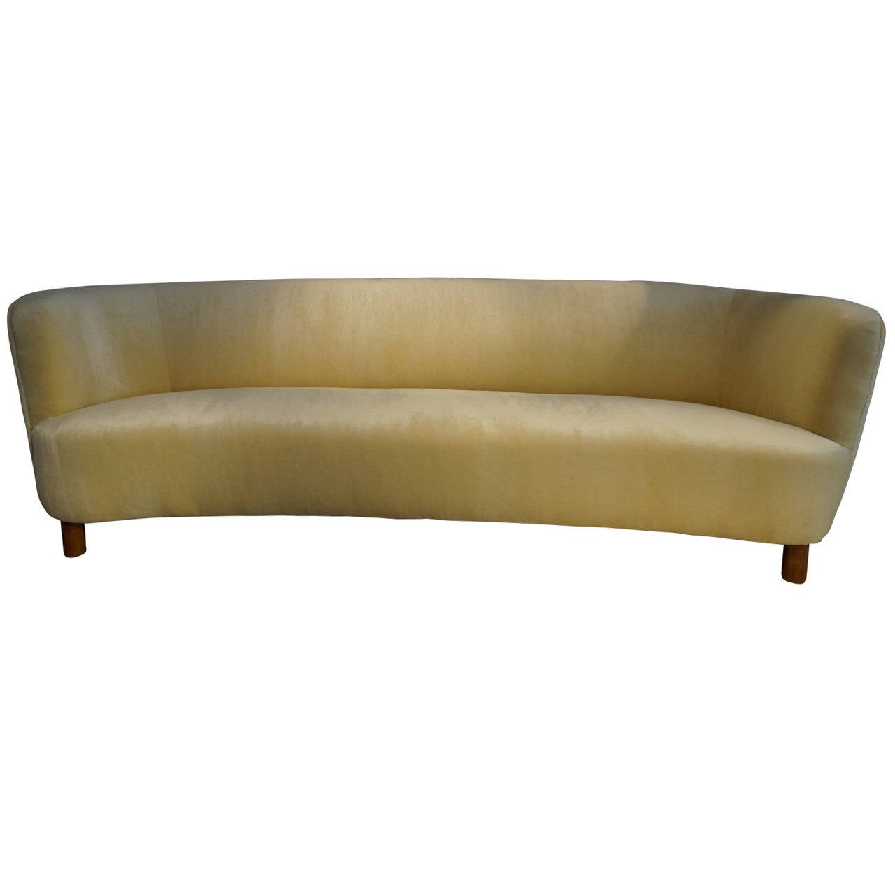 mogens lassen curved sofa at 1stdibs. Black Bedroom Furniture Sets. Home Design Ideas