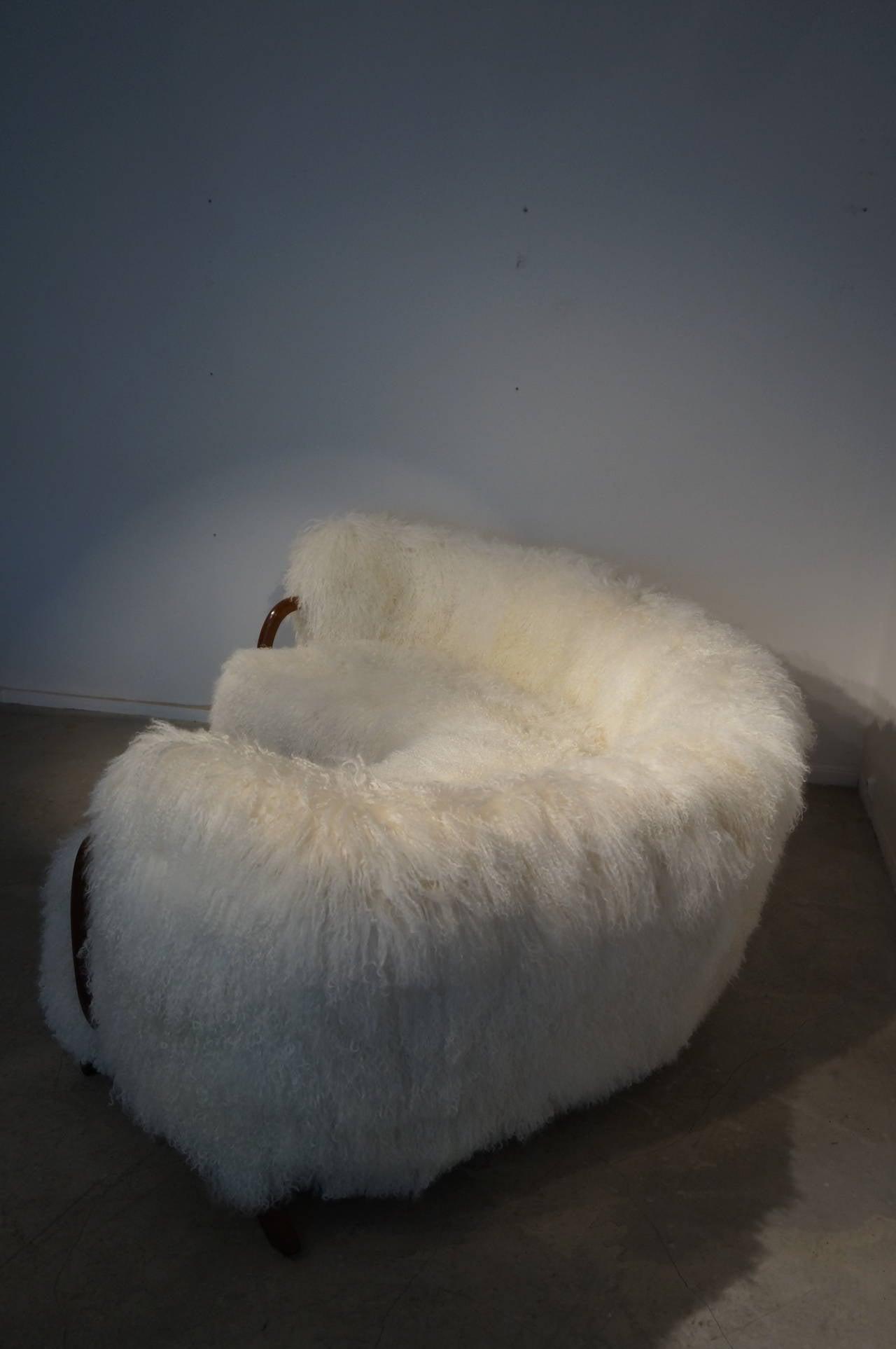 Unique Curved Viggo Boesen Sofa At 1stdibs