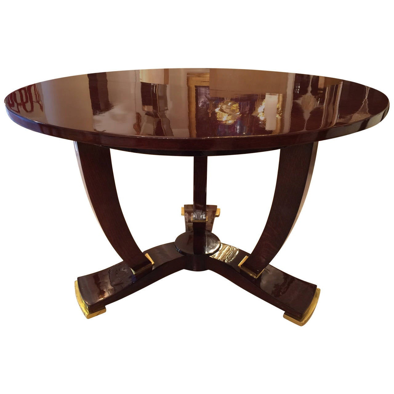 jules leleu art deco coffee table at 1stdibs. Black Bedroom Furniture Sets. Home Design Ideas