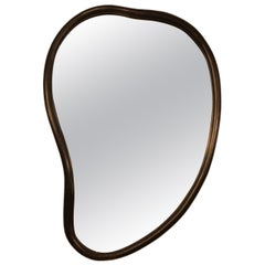 Vintage Curved Surrealist Mirror in the Style of Salvador Dali
