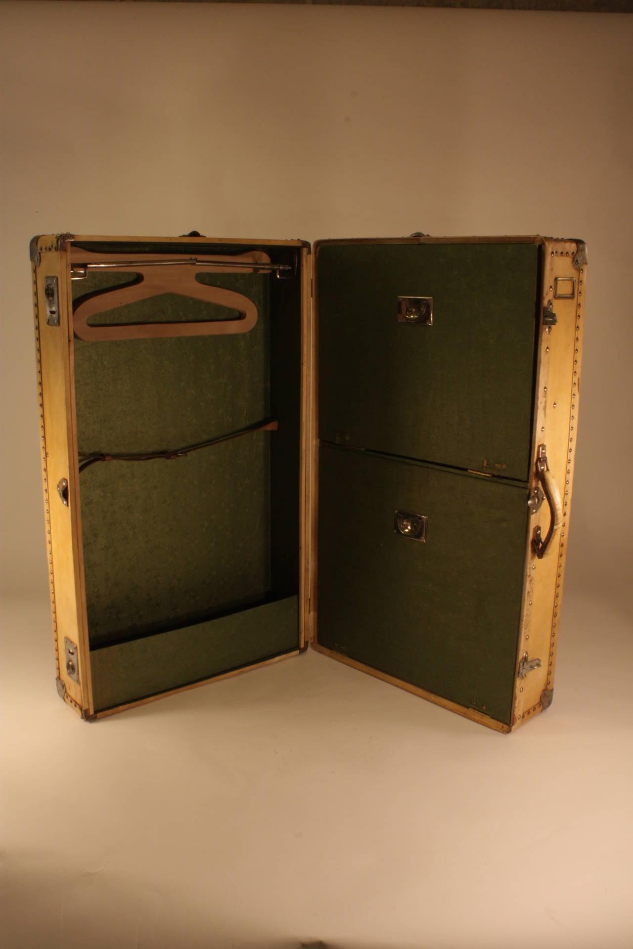 Iron Antique Parchment Suitcase Coffee Table