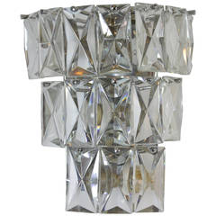 Mid-Century Baccarat Crystal Wall Sconce