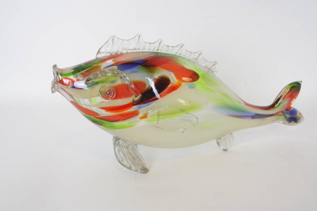 Cm X Cm Red Yellow Art Glass Fish
