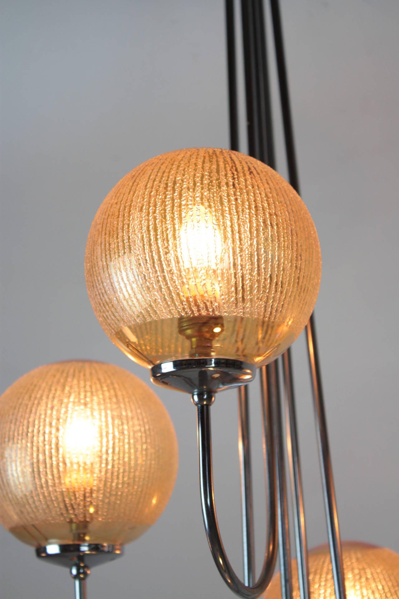 mid century spider floor lamp for sale at 1stdibs. Black Bedroom Furniture Sets. Home Design Ideas