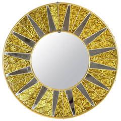 Mid-Century Mosaic Sun Mirror